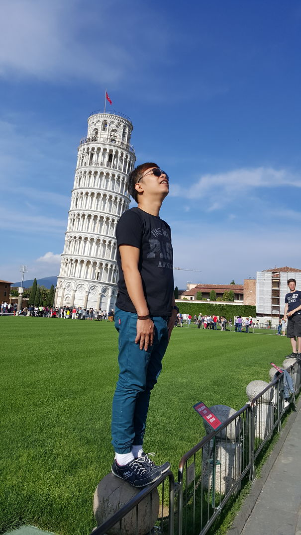 Leaning On The Leaning Tower Of Pisa