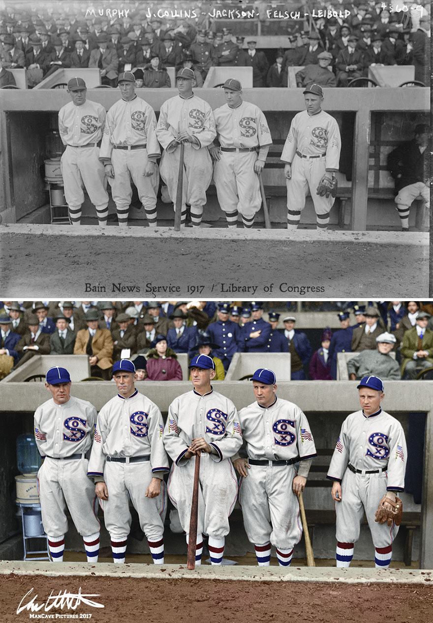The Stars Of The Chicago White Sox In Their Championship Year Of 1917