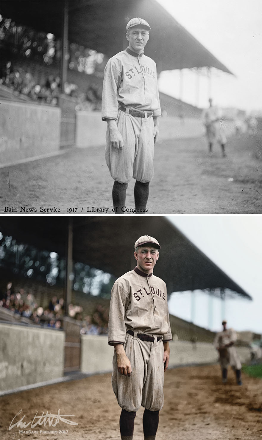 Branch Rickey. St. Louis Browns, 1914.  Rickey Was No Great Player, But He Lives In Baseball History For His Work In Breaking The Segregation Of The Major Leagues, When He Signed Jackie Robinson To The Dodgers In 1947