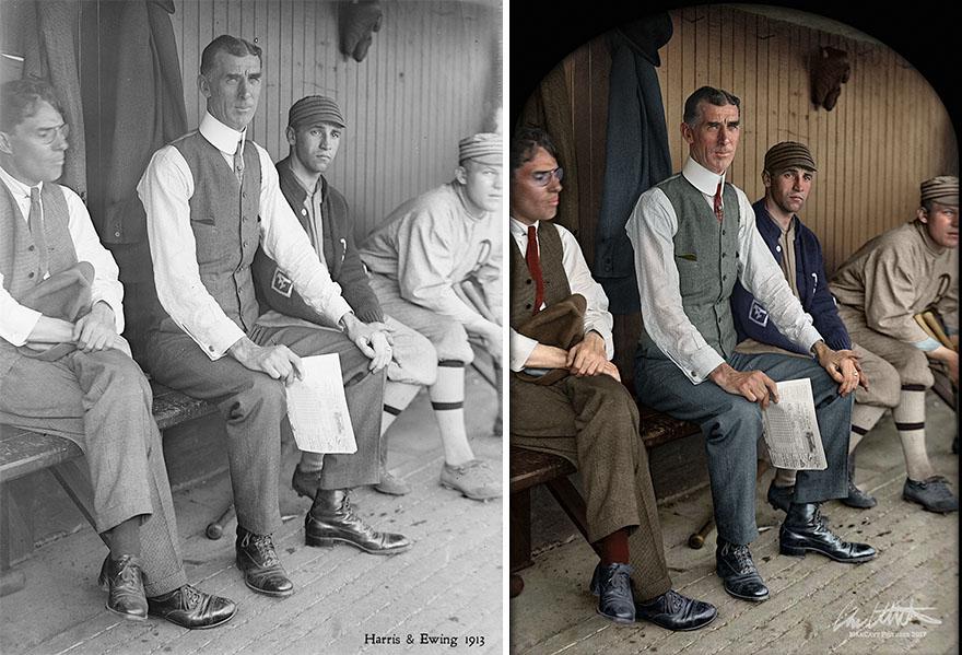 Connie Mack. Manager Philadelphia Athletics, 1913