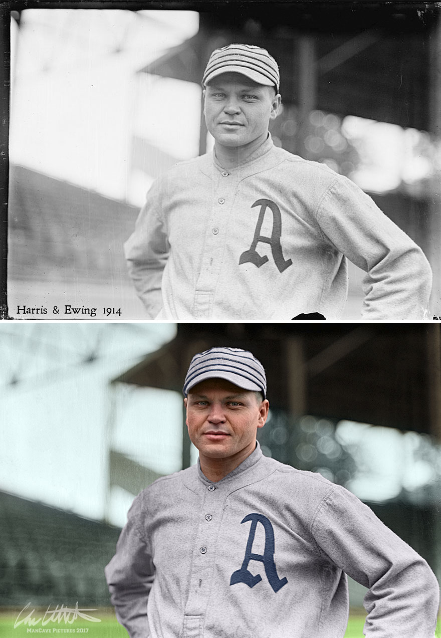 Amos Strunk. Philadelphia Athletics, 1914