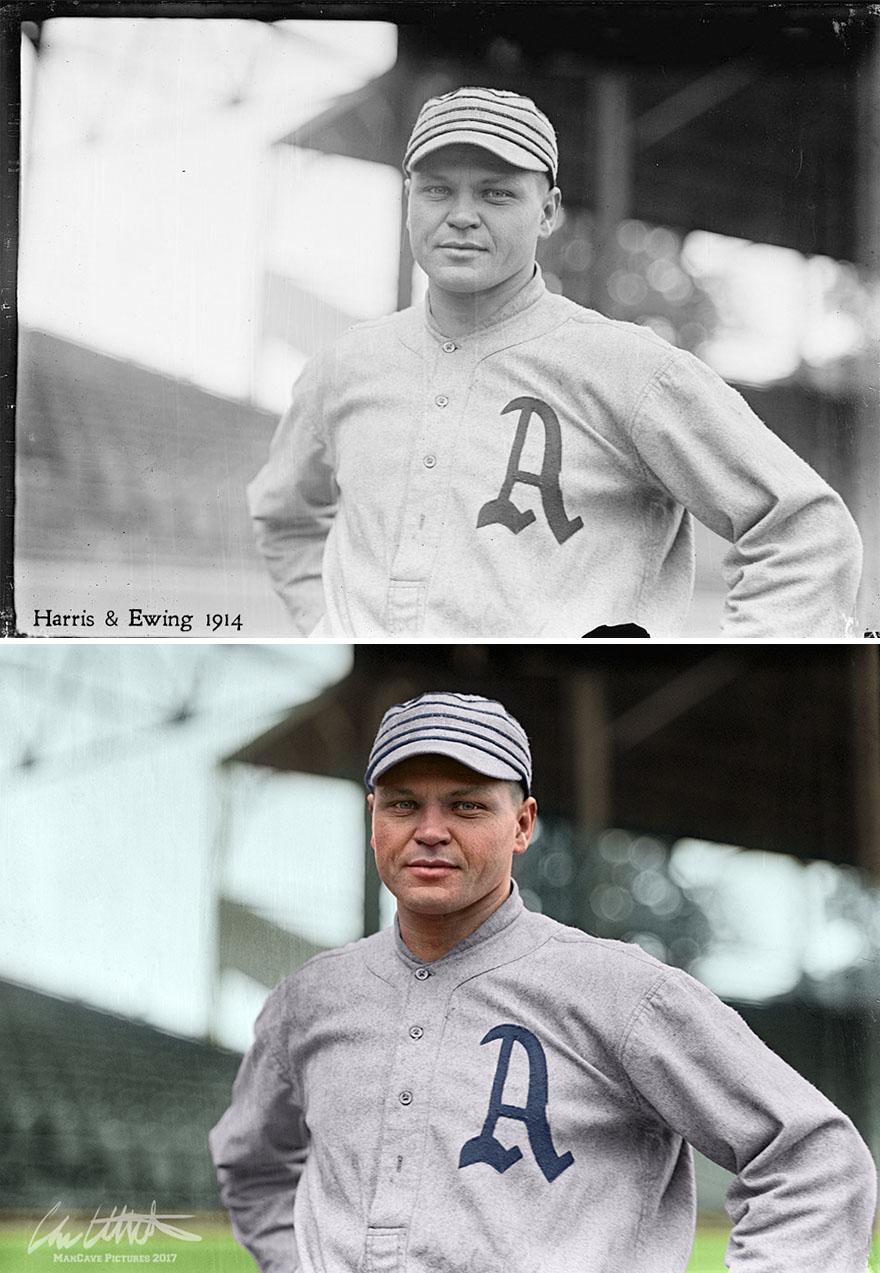 Amos Strunk. Philadelphia Athletics, 1914