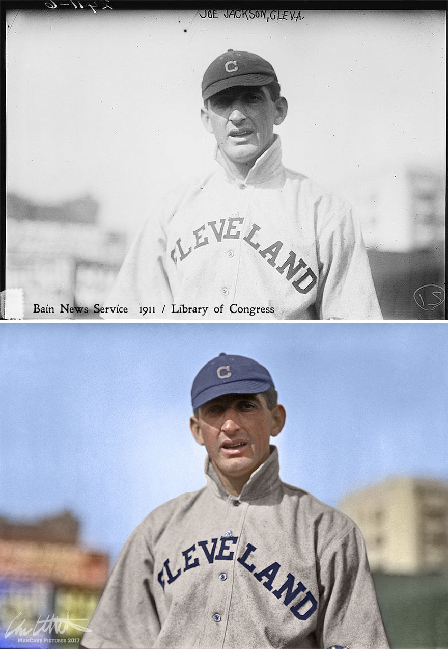 """Shoeless"" Joe Jackson. Cleveland Naps, 1911"