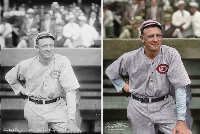 Pitching Great Christy Mathewson At His Last Appearance As A Player With The Cincinnati Reds, 1916
