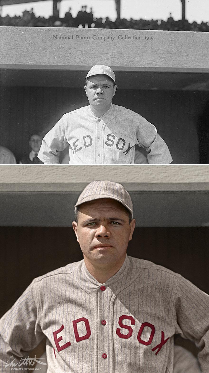 Babe Ruth. Boston Red Sox, 1919