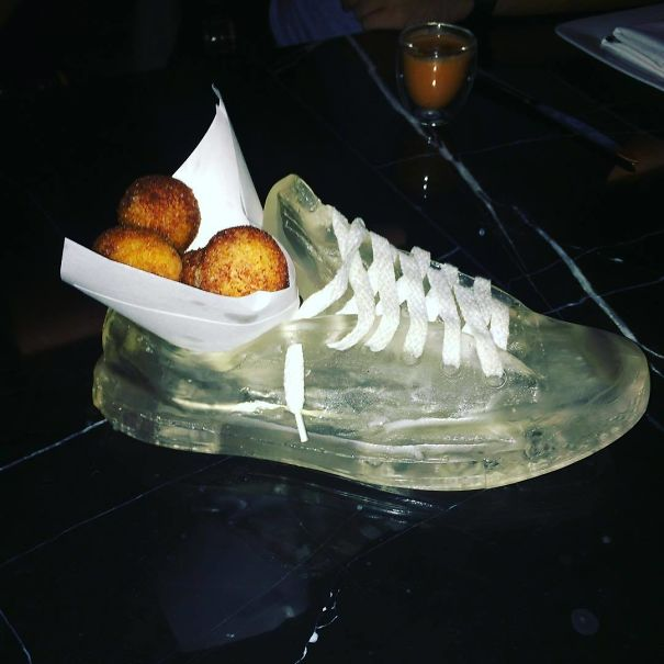 Fritters Served In A Gelatin Shoe