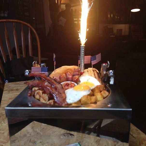 The 'American Breakfast', Served In A Kitchen Sink