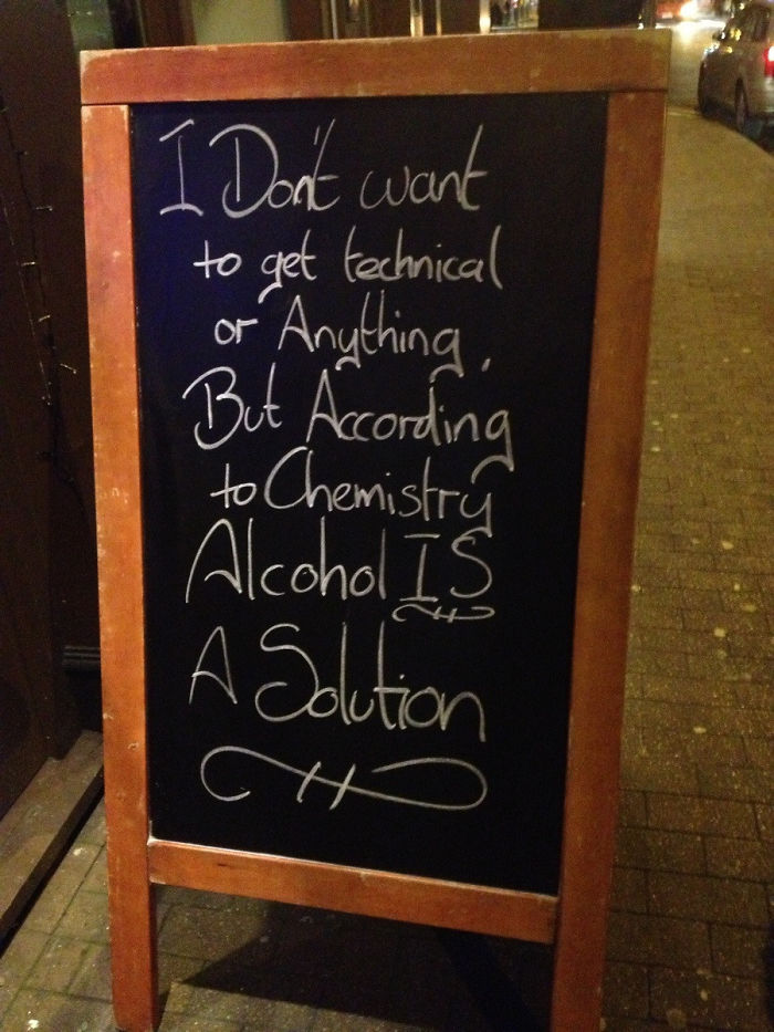 Saw This Outside A Pub Today