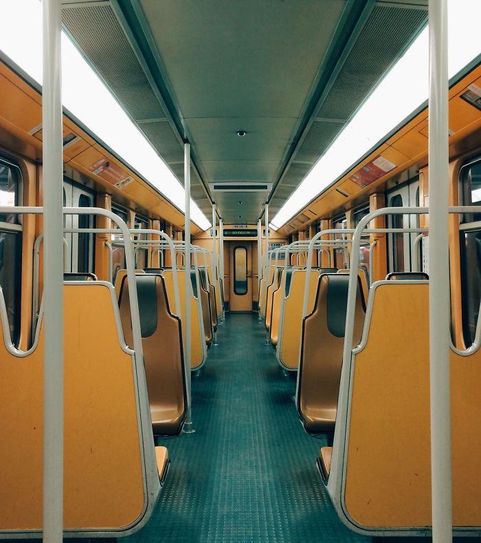 Metro Train In Brussels, Belgium