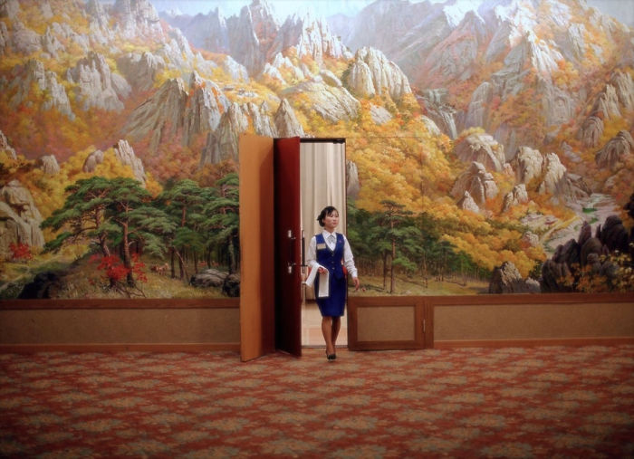 Employee Enters Room At Mount Kumgang Resort In North Korea