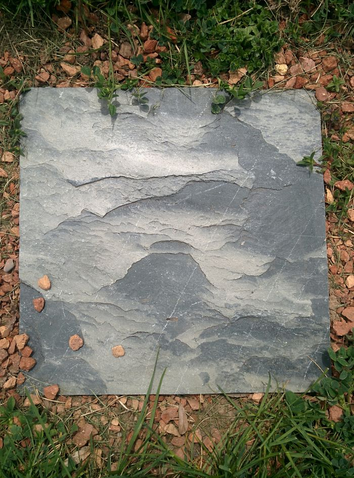 This Stepping Stone Looks Like A Painting Of Misty Mountains