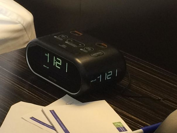 This Hotel Clock Has Displays On Three Sides