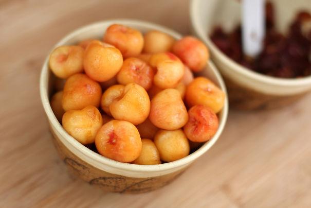 Peeled Cherries