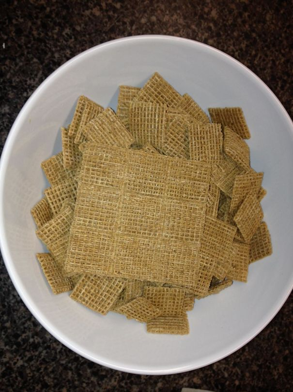 I Have 9 Conjoined Shreddies. (Could Play Tic Tac Toe If I Had Some Alpha Bits)
