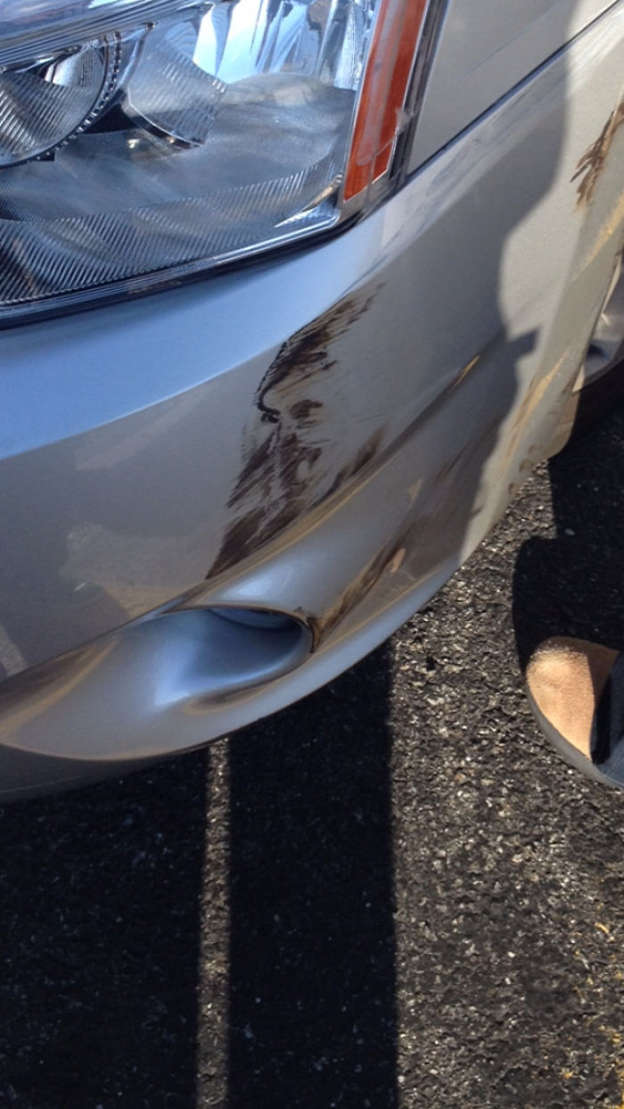A Face Was Scuffed Into My Car After A Minor Car Accident