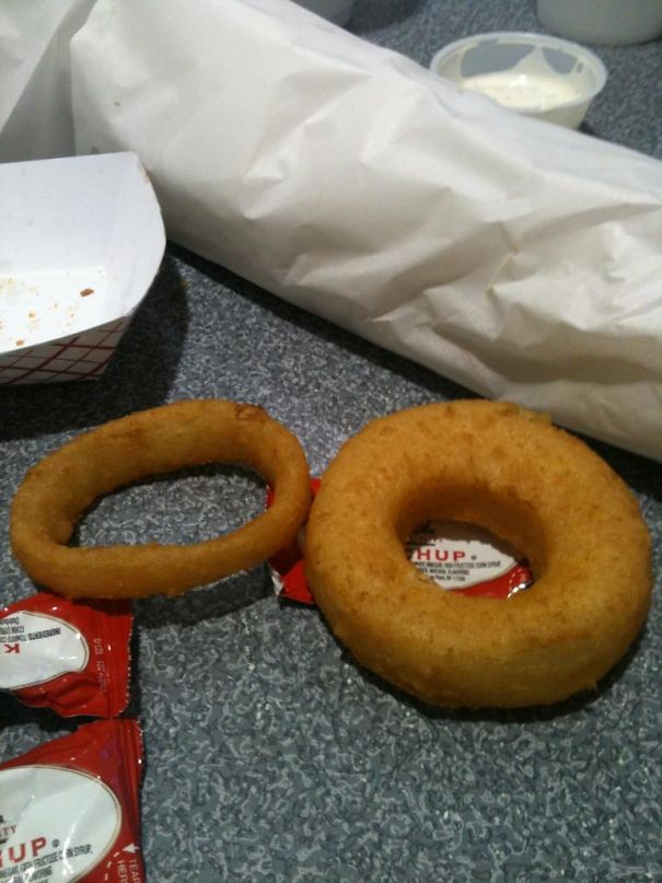 This Onion Ring I Got Is Huge