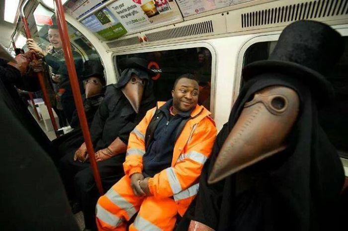 That Awkward Moment On The Subway When You Find Yourself Sitting Next To