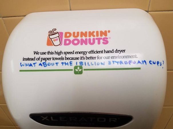 Hand Dryer Has A Point