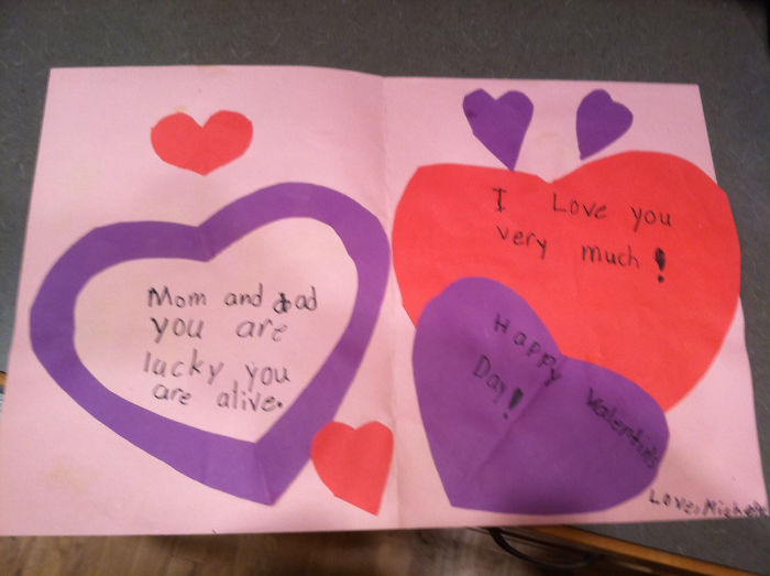 Found This Vaguely Threatening Valentine Card In A Box Of Keepsakes