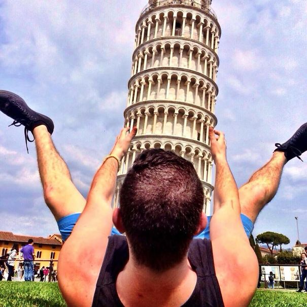 I Told My Friend To Try To Take An Original Picture At The Leaning Tower Of Pisa