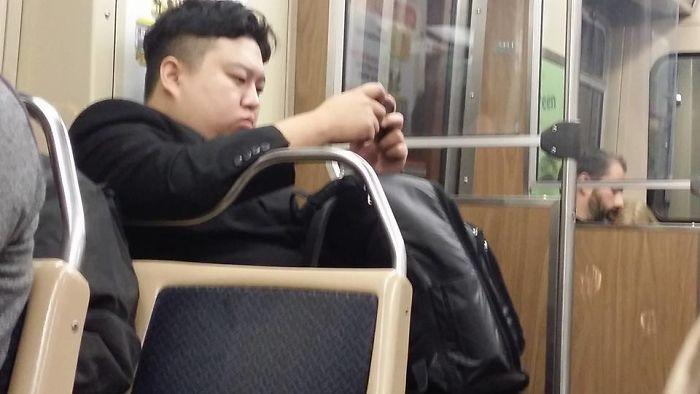 Kim Jong Un On My Train Today