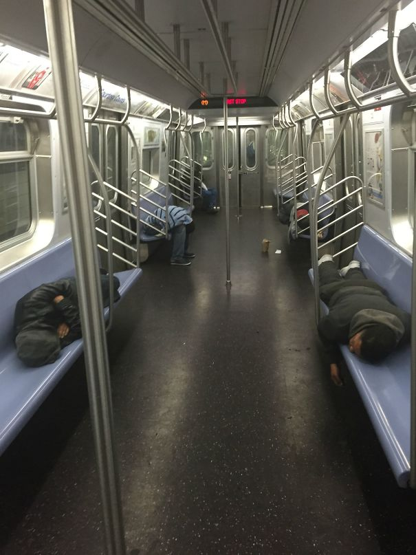 Girlfriend Sent Me This From The M Train This Morning. Monday Mornings Are Rough