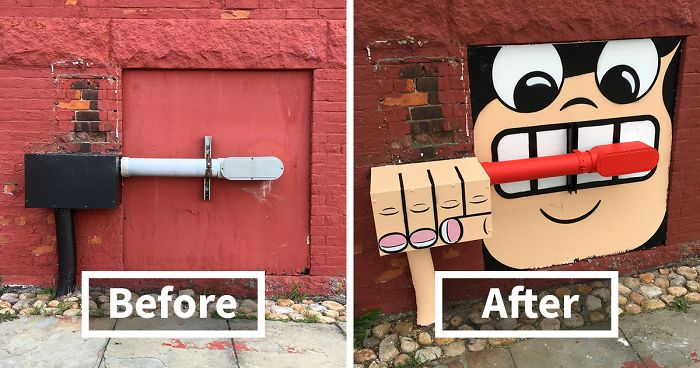 Theres A Genius Street Artist Running Loose In New York And - This artists genius work interacts with the streets of new york