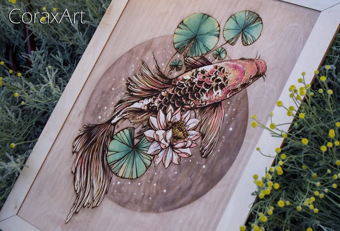 Engraved Life: Amazing Wooden Panels By Coraxart
