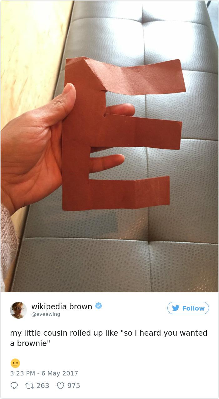 A Brown E