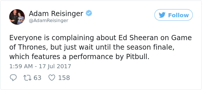 Of The Most Hilarious Reactions To Ed Sheerans Cameo In Game - 17 hilarious reactions to ed sheeran appearing in game of thrones