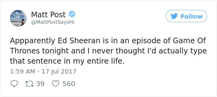Ed Sheeran Reaction