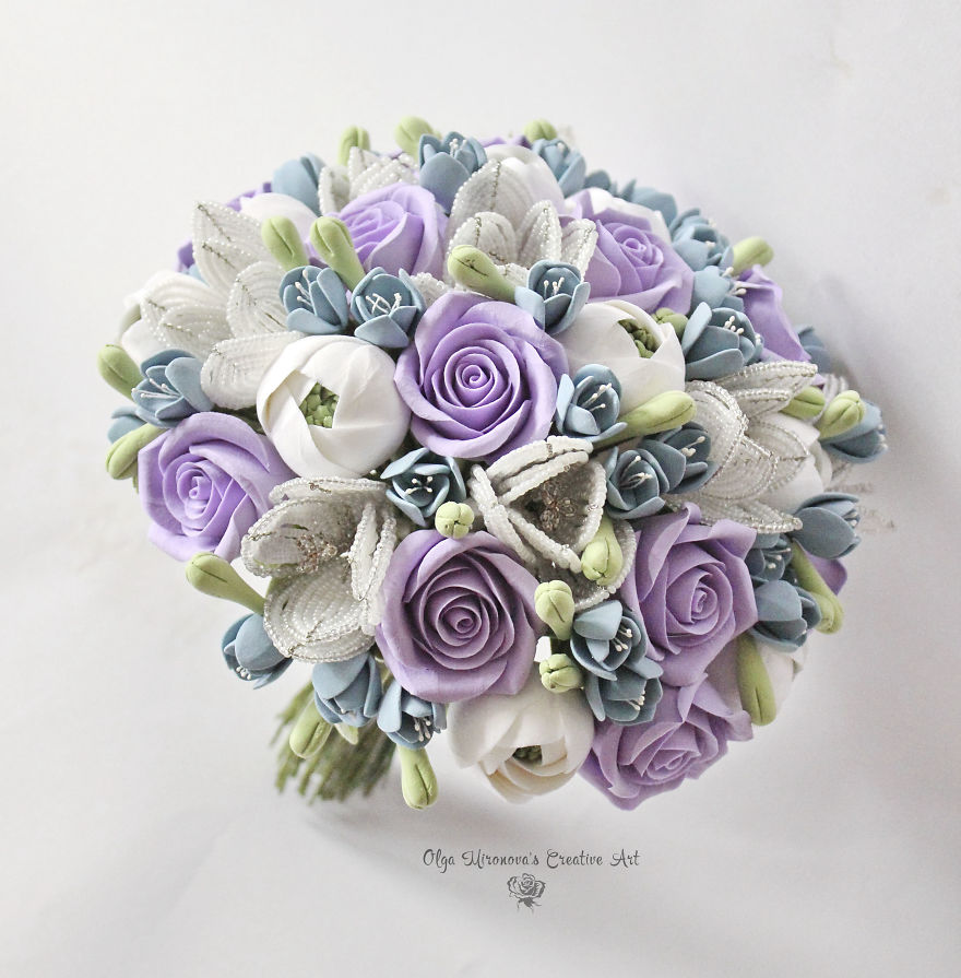 I make clay bouquets that brides can keep forever bored panda these bouquets are available on etsy izmirmasajfo Images