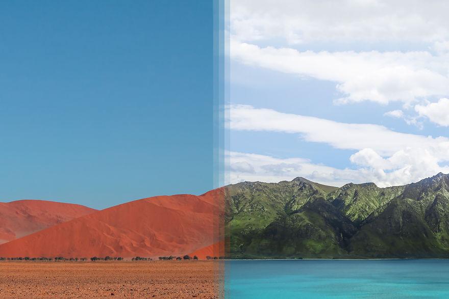 Sossusvlei In Namibia Vs Otago In New Zealand