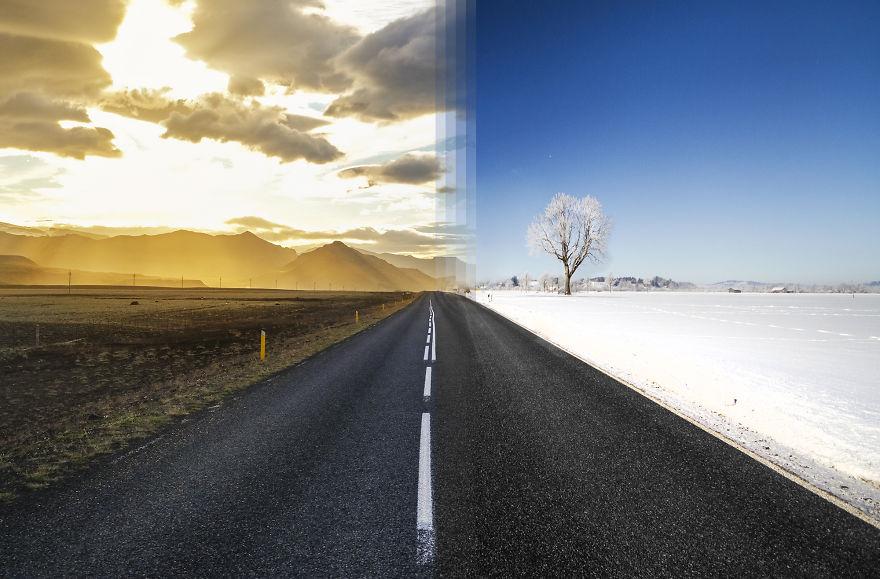 Летнее время в Исландии против зимнего времени в Германии