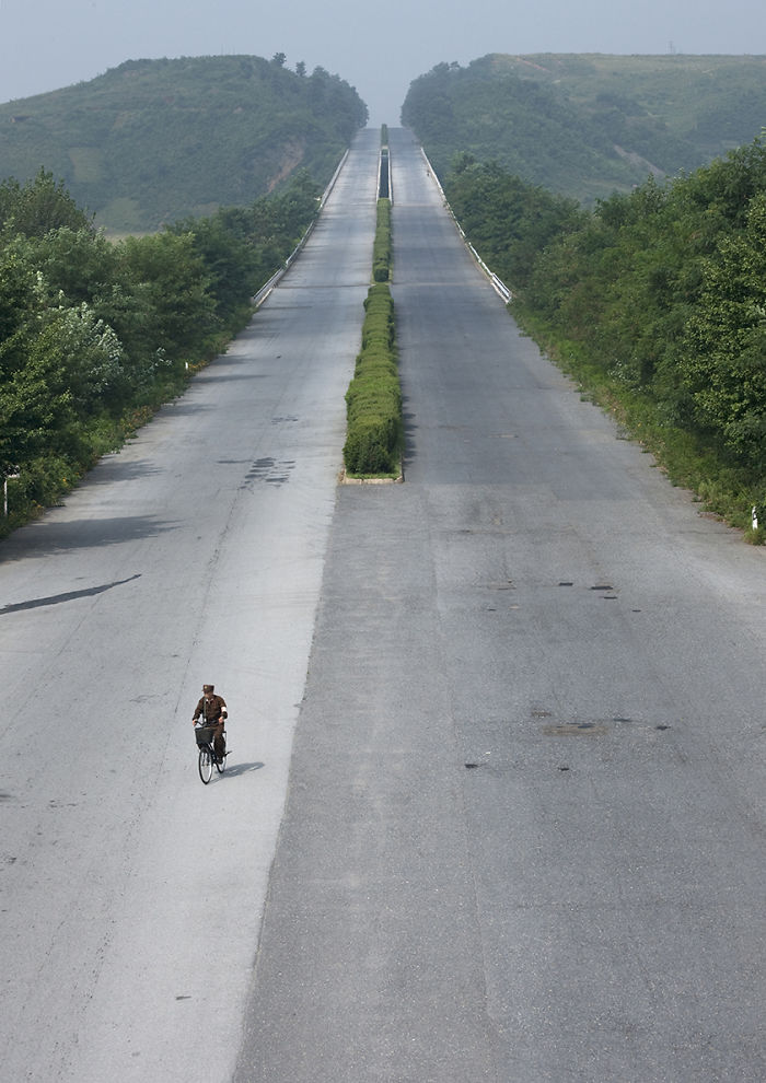 Yes, In North Korea You Can Bike Without Danger On Highway