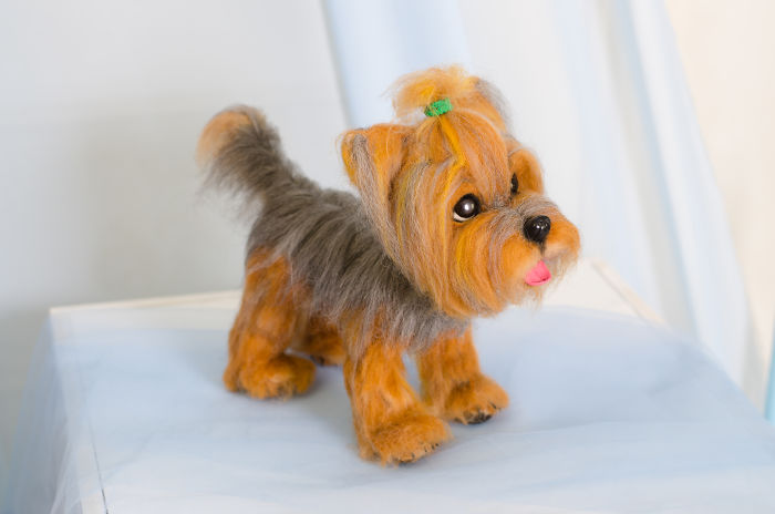 It Took Me More Than 100 Hours To Make This Needle Felted Yorkie!
