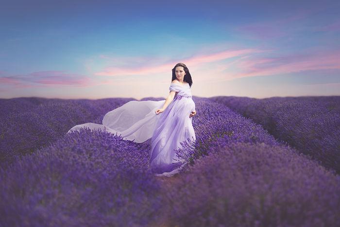 Photo Shoot In Lavender Field