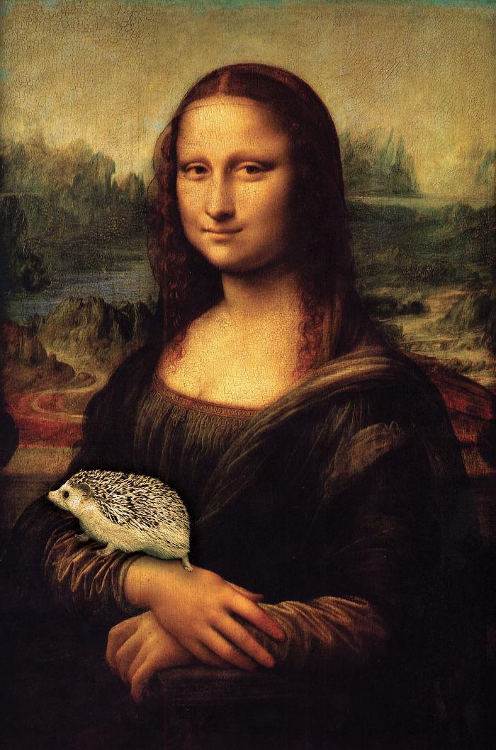 Mona Lisa With Hedgehog