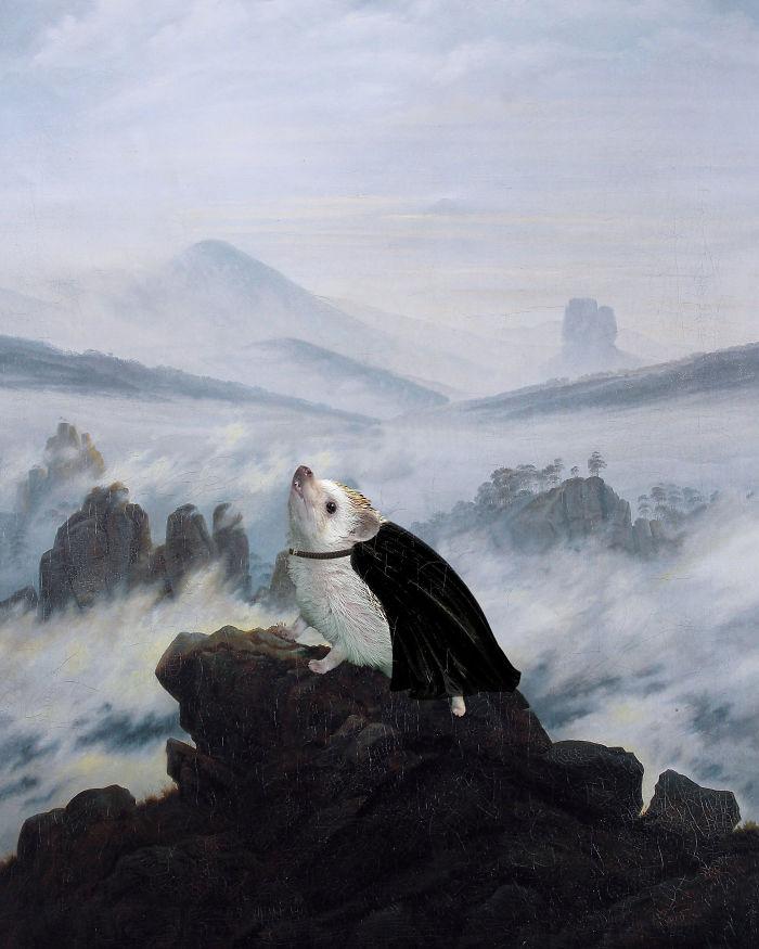 Caspar David Friedrich's 'Wanderer Above The Sea Of Hog'