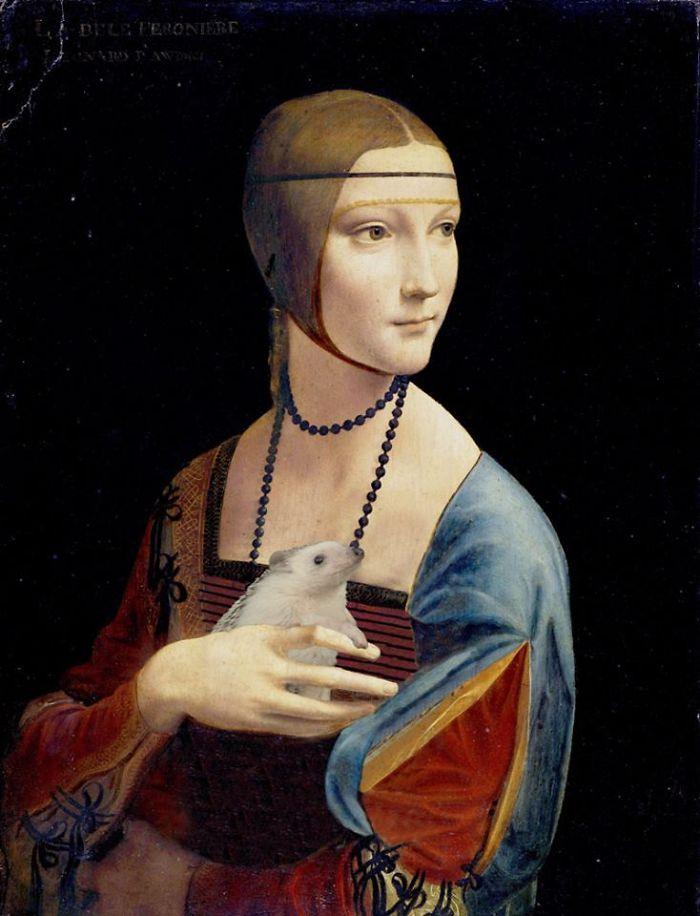 Da Vinci's Lady With A Hedgehog