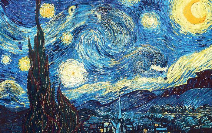Van Gogh's 1888 'The Starry Hedgehog Night'