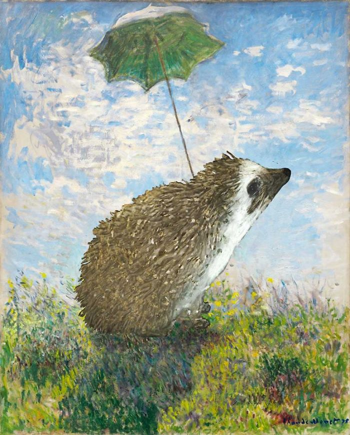Monet's 'Hedgehog With A Parasol' (1874)