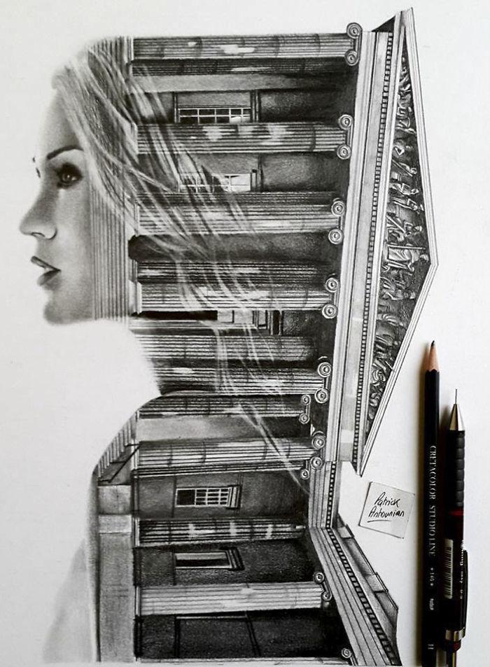 Double Exposure Drawings