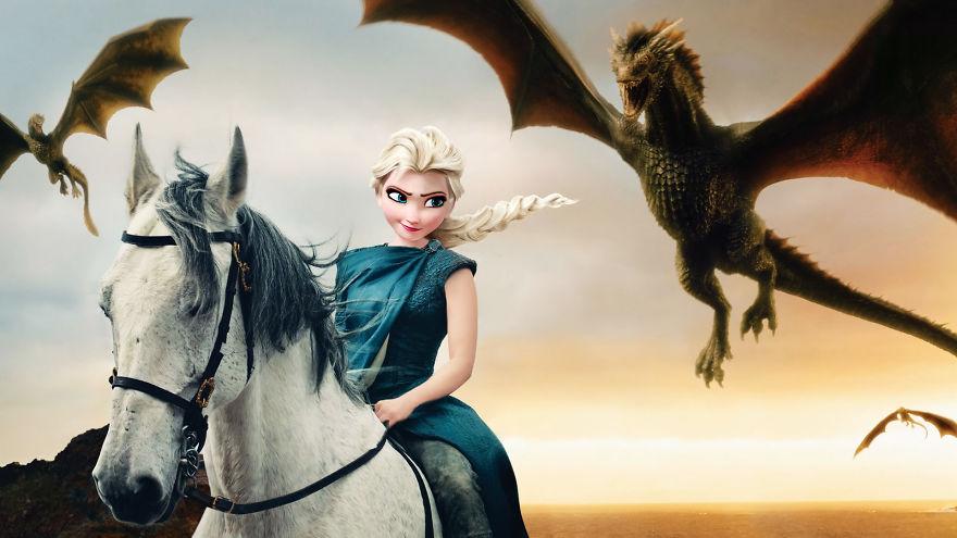 Elsa As Daenerys Targaryen (Emilia Clarke)