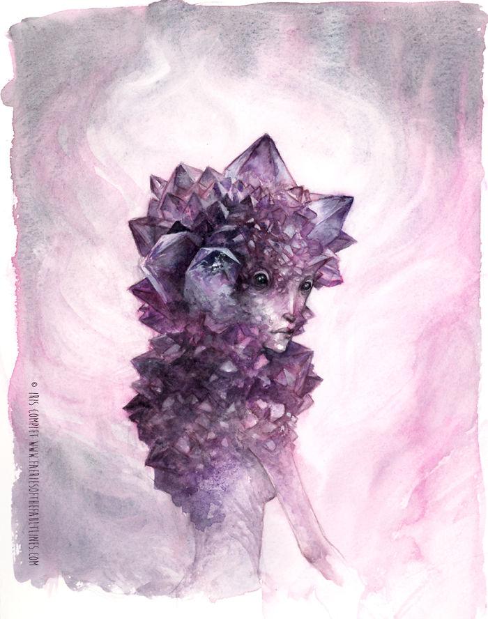 Les faeries se rattachent ... Un livre d'art par Iris Compiet