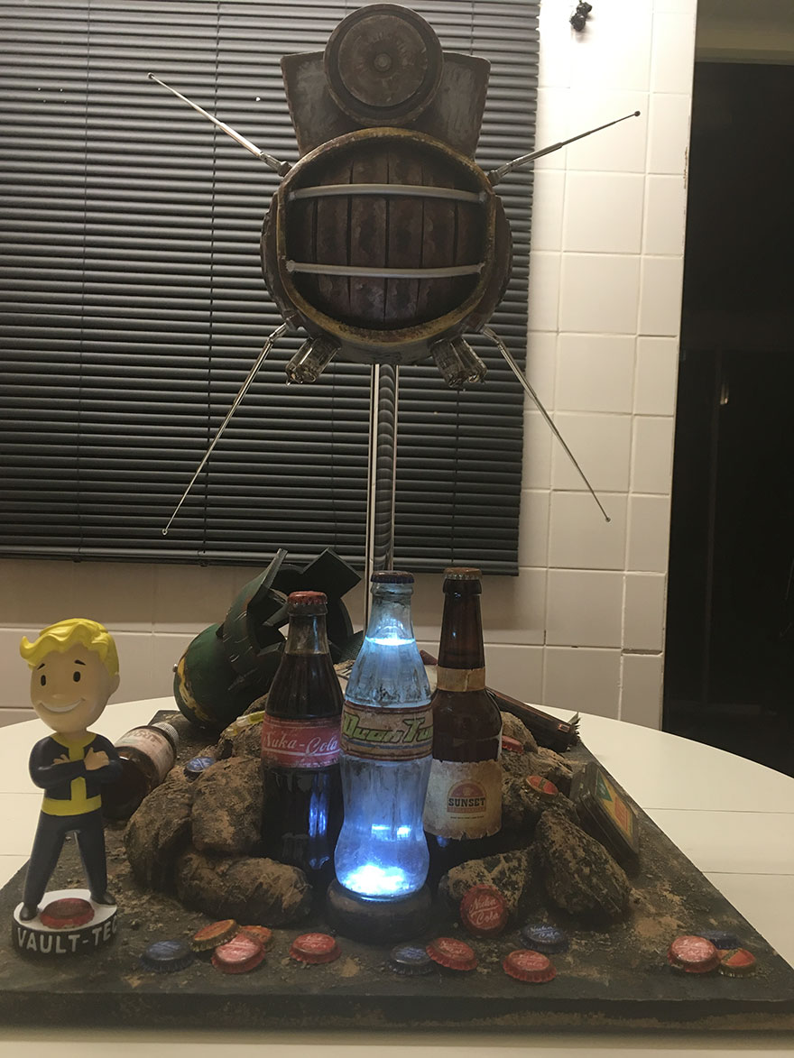 "I Made A Prop Display Based On My Favorite Game ""Fallout"" 