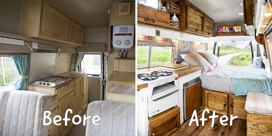 How We Transformed This Camper Van In 6 Weeks With Only 163