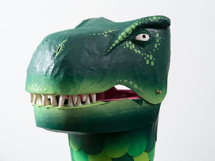 Handmade Paper Mache Dinosaur Schoolcone 'Schultüte'