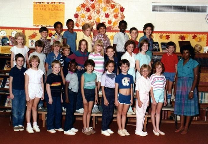 4th Grade Class Photo; 1985 And The Photographer Clearly Wanted To Eff With Me.