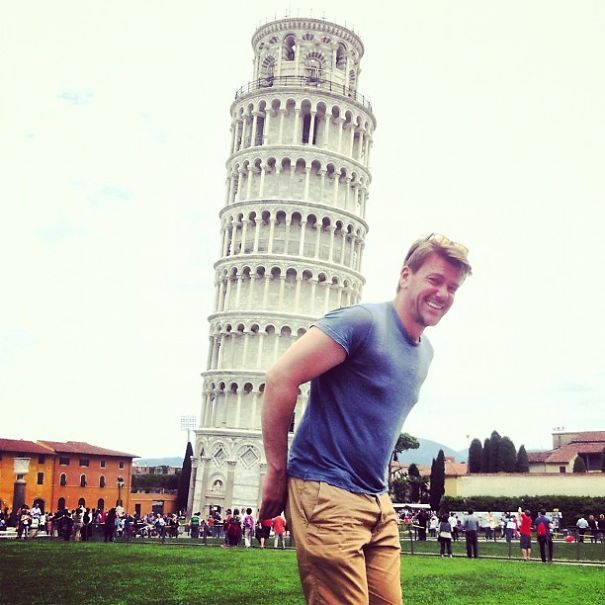 Carrying The Weight Of Pisa Tower
